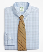 Stretch Milano Slim-Fit Dress Shirt, Non-Iron Check 썸네일 이미지 1