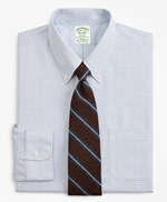 Stretch Milano Slim-Fit Dress Shirt, Non-Iron Grid Check 썸네일 이미지 1