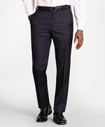 BrooksGate™ Regent-Fit Bead-Stripe Wool Twill Suit Pants 썸네일 이미지 1