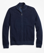 Washable Merino Wool Full-Zip Sweater 썸네일 이미지 1