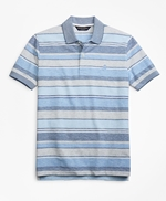 Slim Fit Multi-Stripe Polo 썸네일 이미지 1