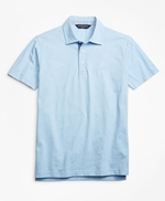 Slim Fit Heathered Polo Shirt 썸네일 이미지 1