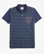 Stripe Slub Cotton Fun Polo Shirt 썸네일 이미지 1
