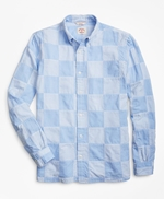 Chambray Patchwork Madras Sport Shirt 썸네일 이미지 1