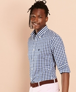 Gingham Broadcloth Sport Shirt 썸네일 이미지 1