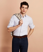 Solid Cotton Oxford Sport Shirt 썸네일 이미지 1