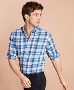 Madras Cotton Sport Shirt 썸네일 이미지 1