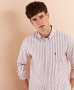 Striped Cotton Oxford Sport Shirt 썸네일 이미지 1
