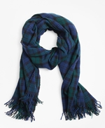 Black Watch Plaid Wool Scarf 썸네일 이미지 1