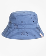 Reversible Paisley Cotton Jacquard Bucket Hat 썸네일 이미지 1