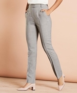 Pintucked Stretch Wool Pants 썸네일 이미지 1