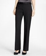Wide-Leg Stretch Wool Trousers 썸네일 이미지 1