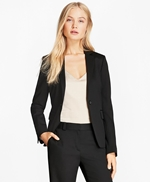 Stretch Wool One-Button Jacket 썸네일 이미지 1