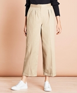 Pleat-Front Cropped Wide-Leg Pants 썸네일 이미지 1