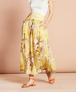 Floral-Print Cotton Maxi Skirt 썸네일 이미지 1
