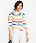 Shimmer-Stripe Sweater 썸네일 이미지 1