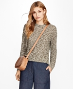 Cropped Shimmer Boucle Sweater 썸네일 이미지 1