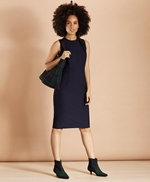 Bow-Neck Wool-Blend Twill Sheath Dress 썸네일 이미지 1