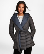 Reversible Water-Repellent Down-Filled Wrap Coat 썸네일 이미지 1