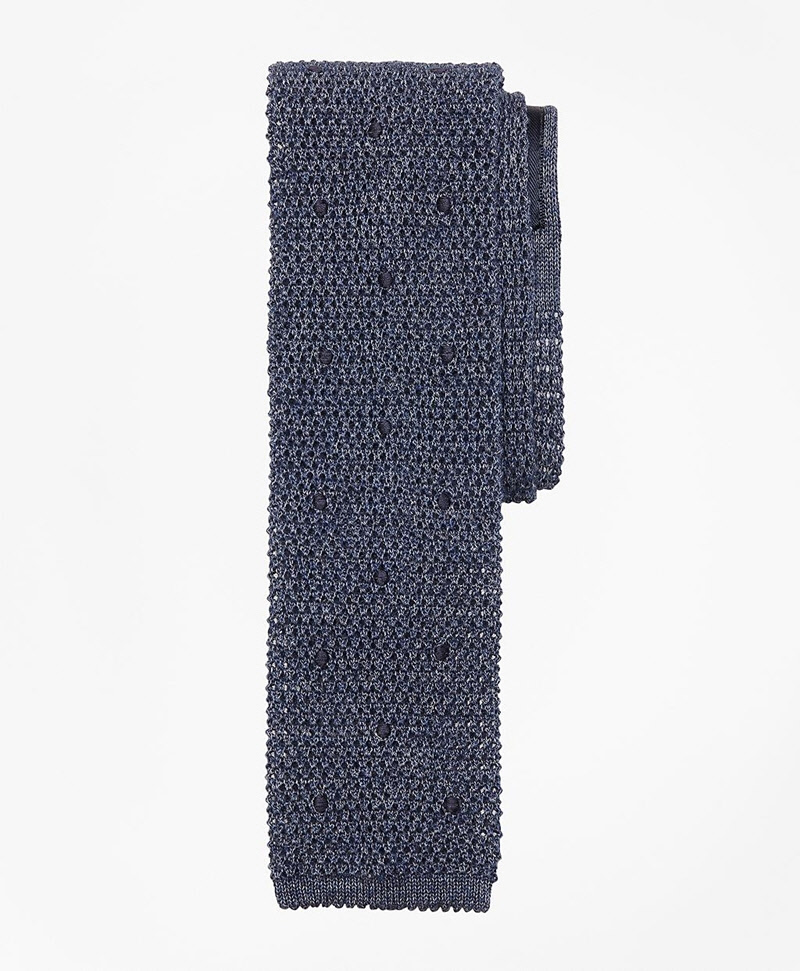 Square End Knit Tie 썸네일 이미지 1
