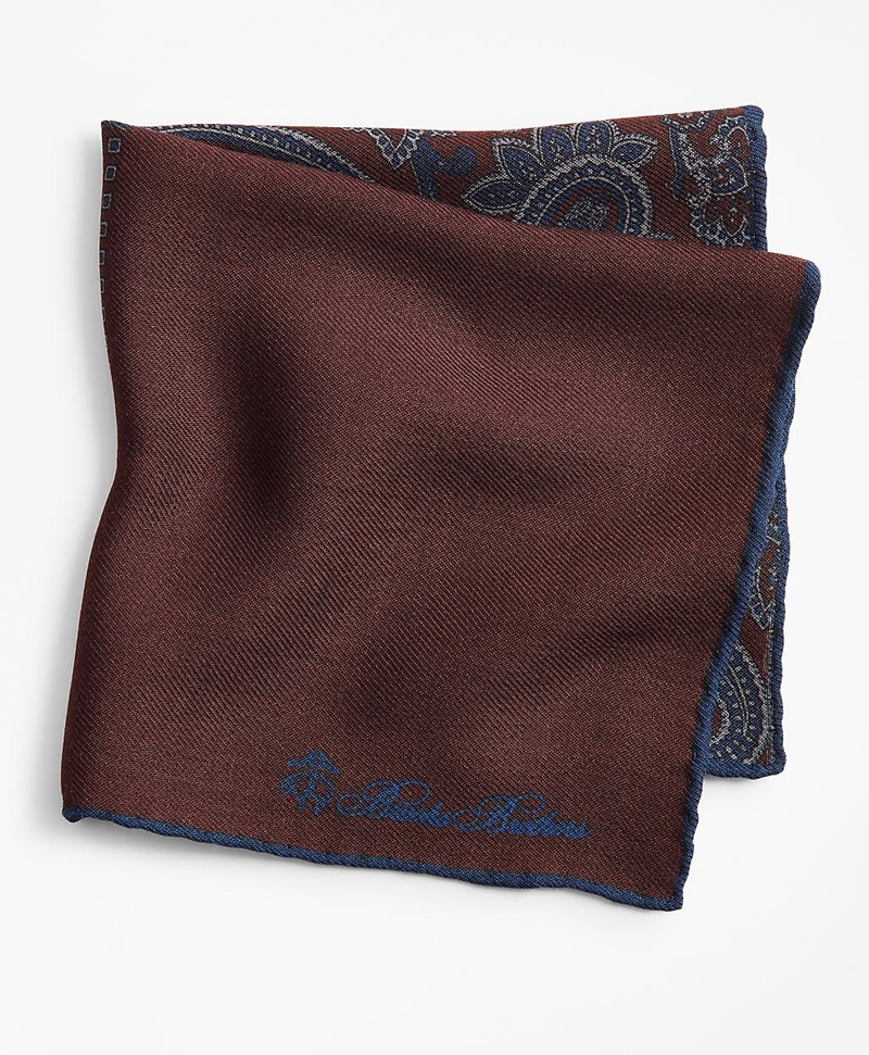 Patchwork Flannel Pocket Square 썸네일 이미지 1