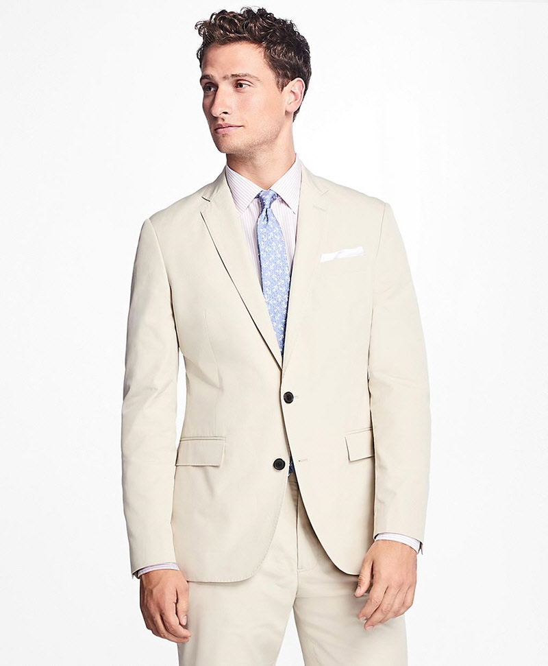 Two-Button Cotton Suit Jacket 썸네일 이미지 1