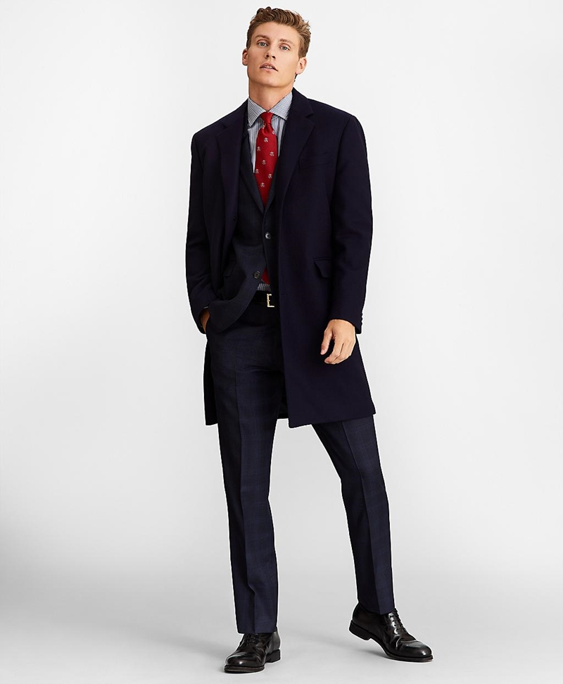 Single-Breasted Wool Topcoat 썸네일 이미지 1