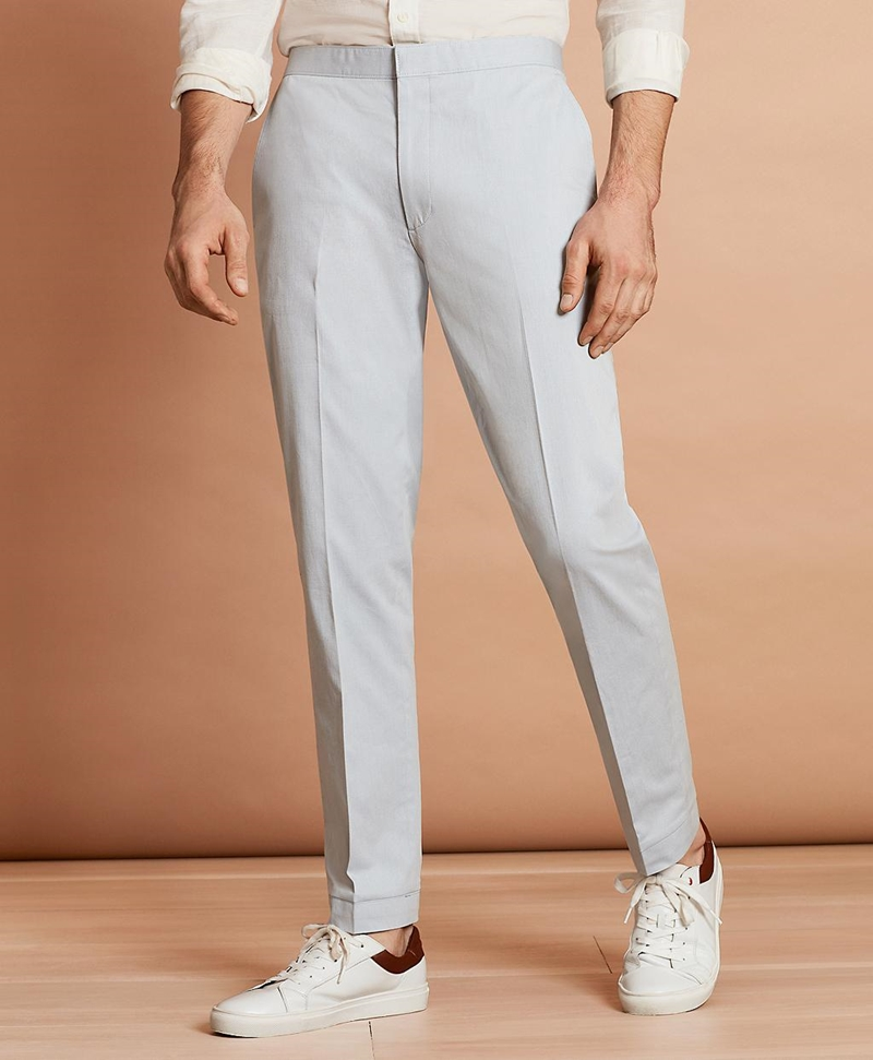 Stretch-Cotton Trousers 썸네일 이미지 1