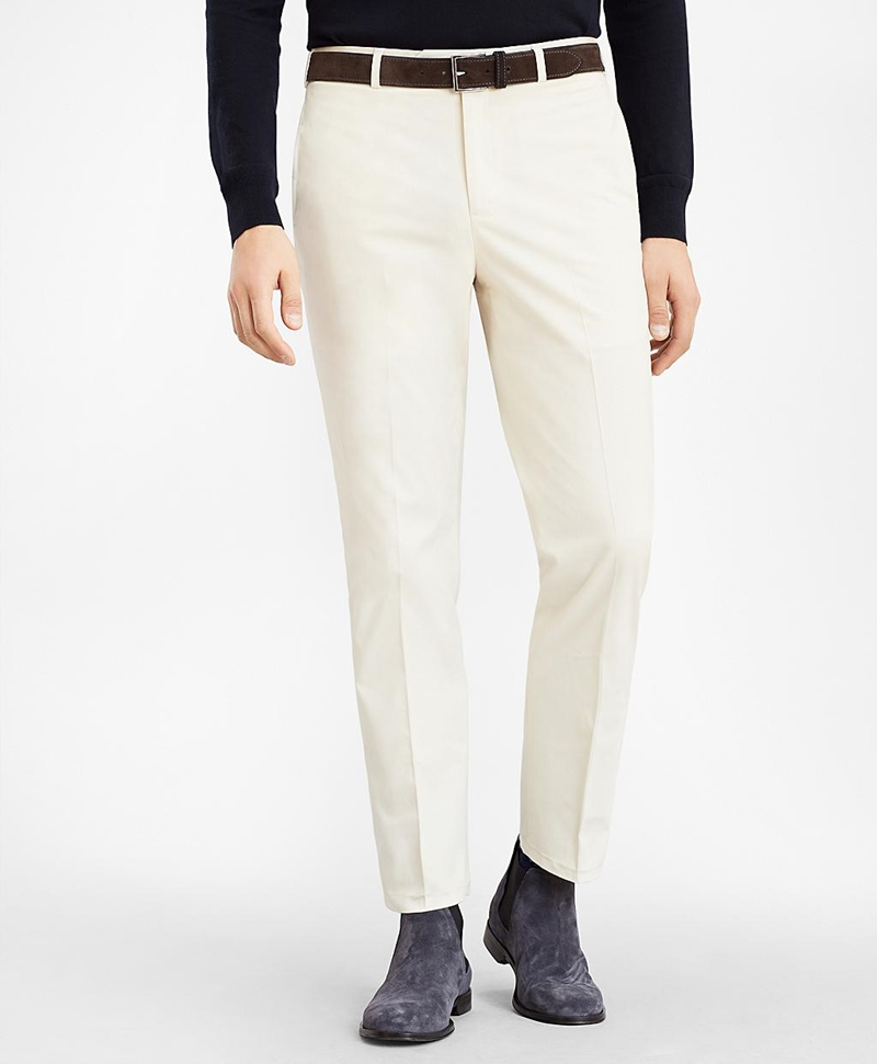 Regent Fit Supima® Cotton Trousers 썸네일 이미지 1