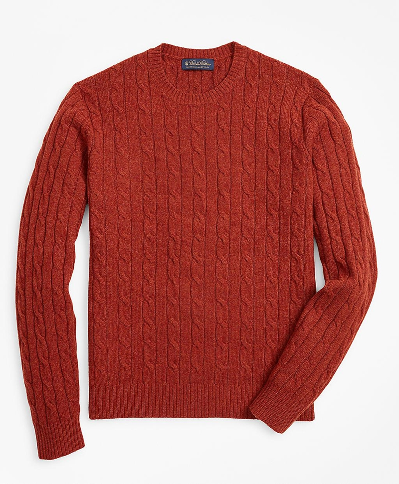 Lambswool Cable Crewneck Sweater 썸네일 이미지 1