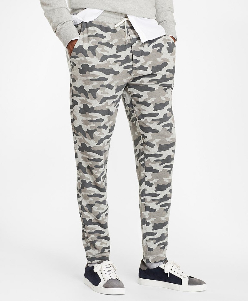 French Terry Camo Sweatpants 썸네일 이미지 1