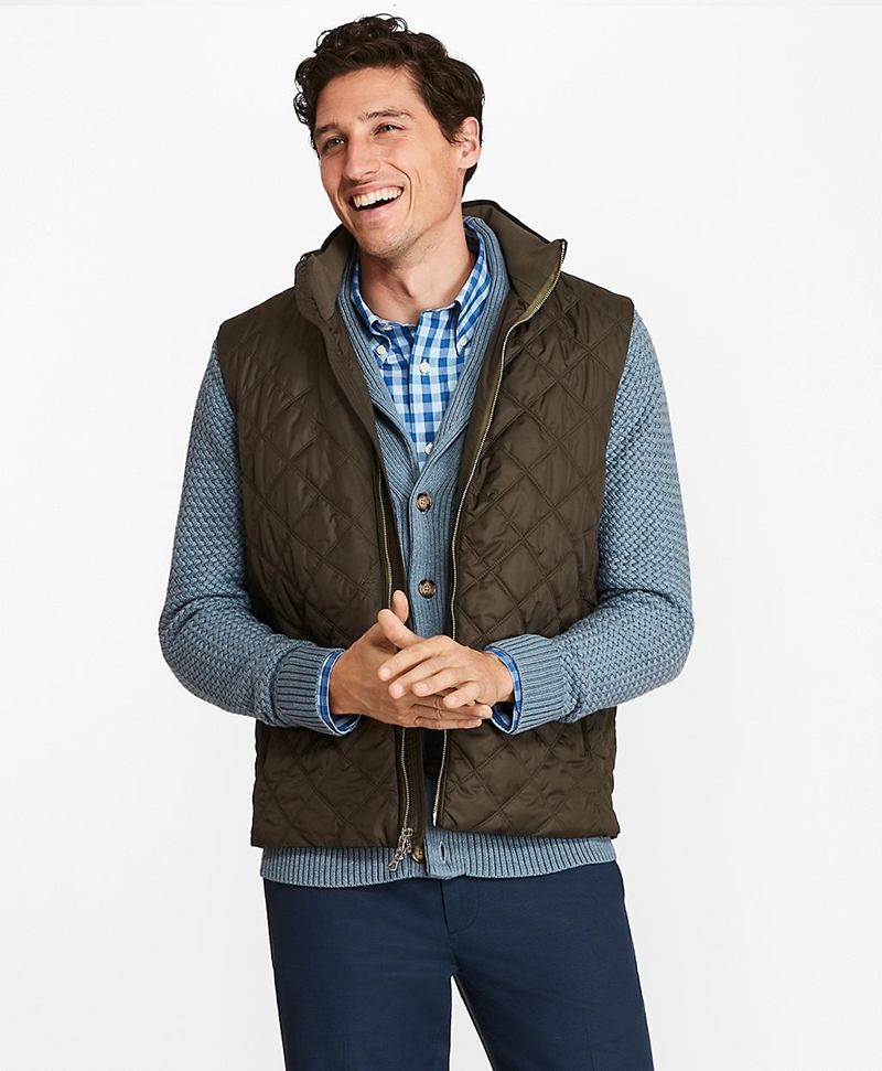 Diamond Quilted Vest 썸네일 이미지 1