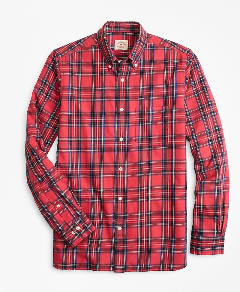 Tartan Cotton Flannel Sport Shirt 썸네일 이미지 1
