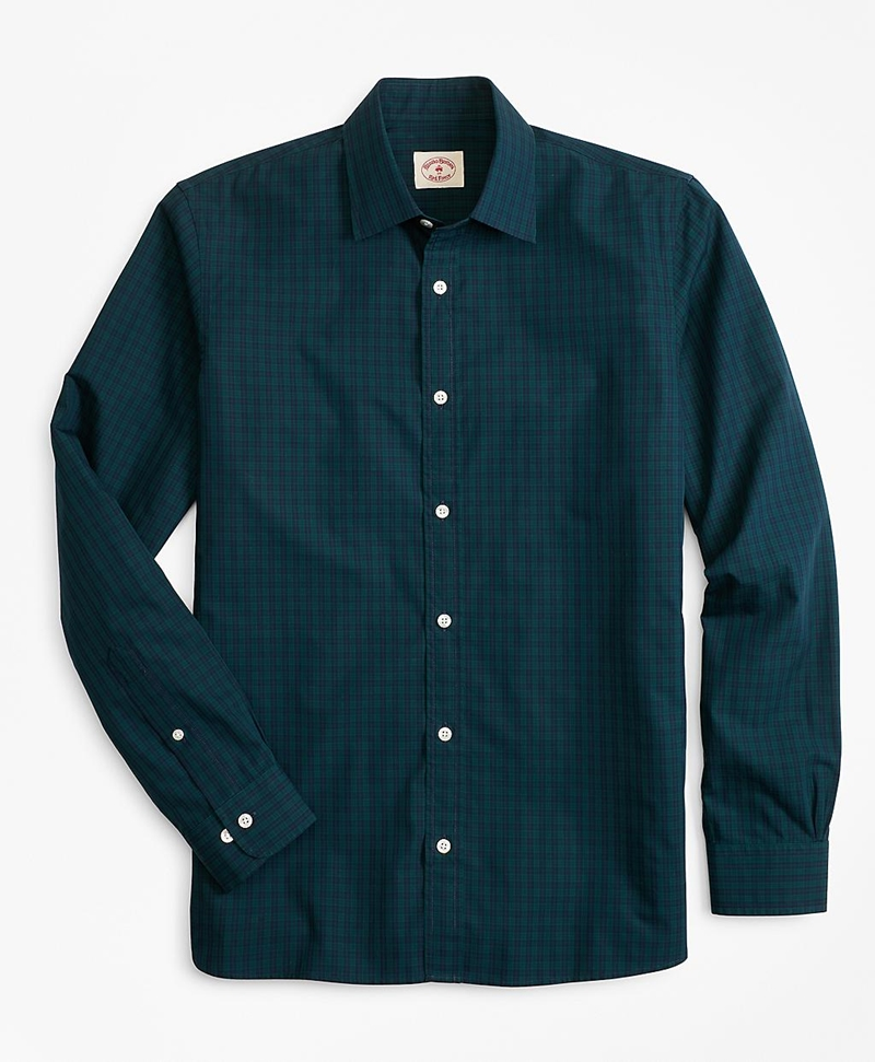 Black Watch Tartan Nine-to-Nine Spread Collar Shirt 썸네일 이미지 1