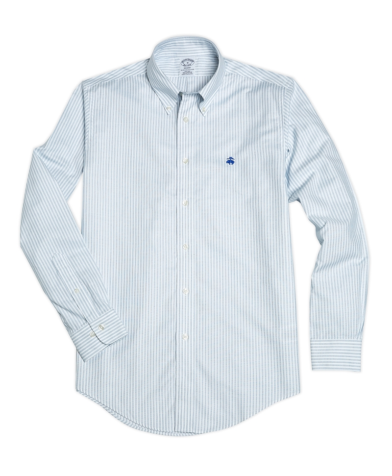 Non-Iron Regent Fit Striped Oxford Shirts 썸네일 이미지 1