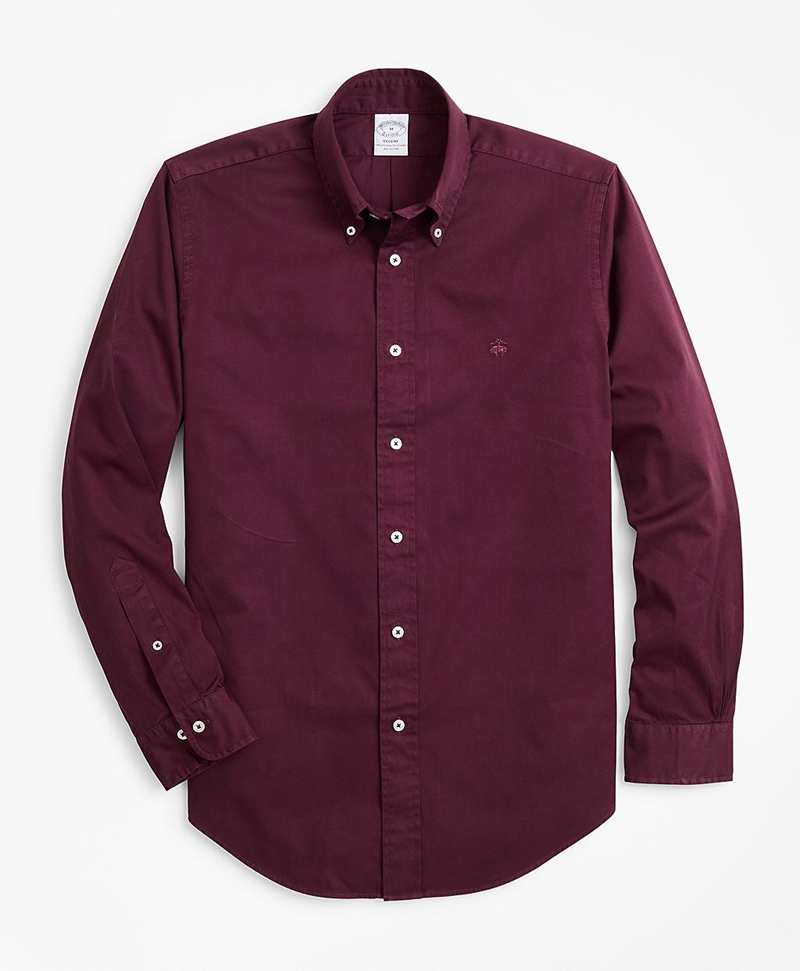 Regent Fit Garment-Dyed Twill Sport Shirt 썸네일 이미지 1