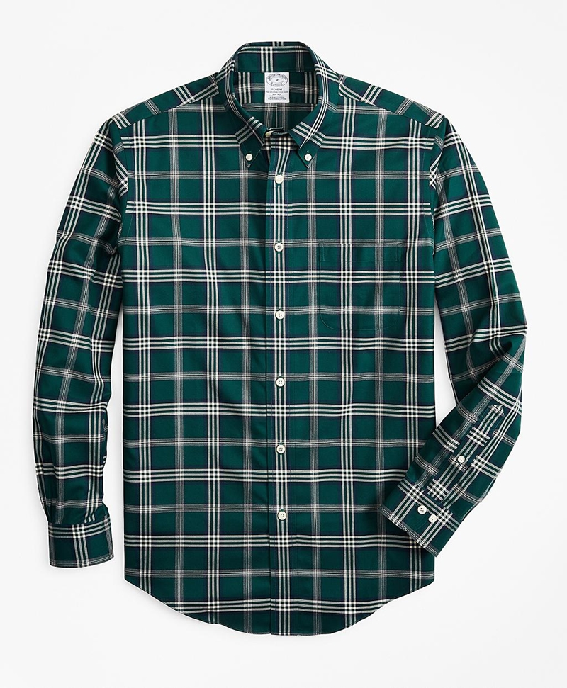 Non-Iron Regent Fit Signature Tartan Sport Shirt 썸네일 이미지 1