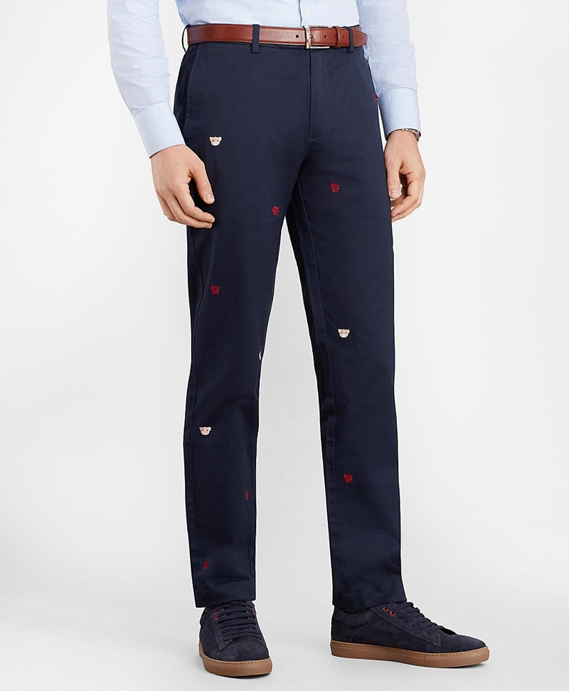 Year of the Pig Slim-Fit Chinos 썸네일 이미지 1