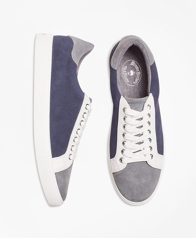 Color-Block Suede Sneakers 썸네일 이미지 1