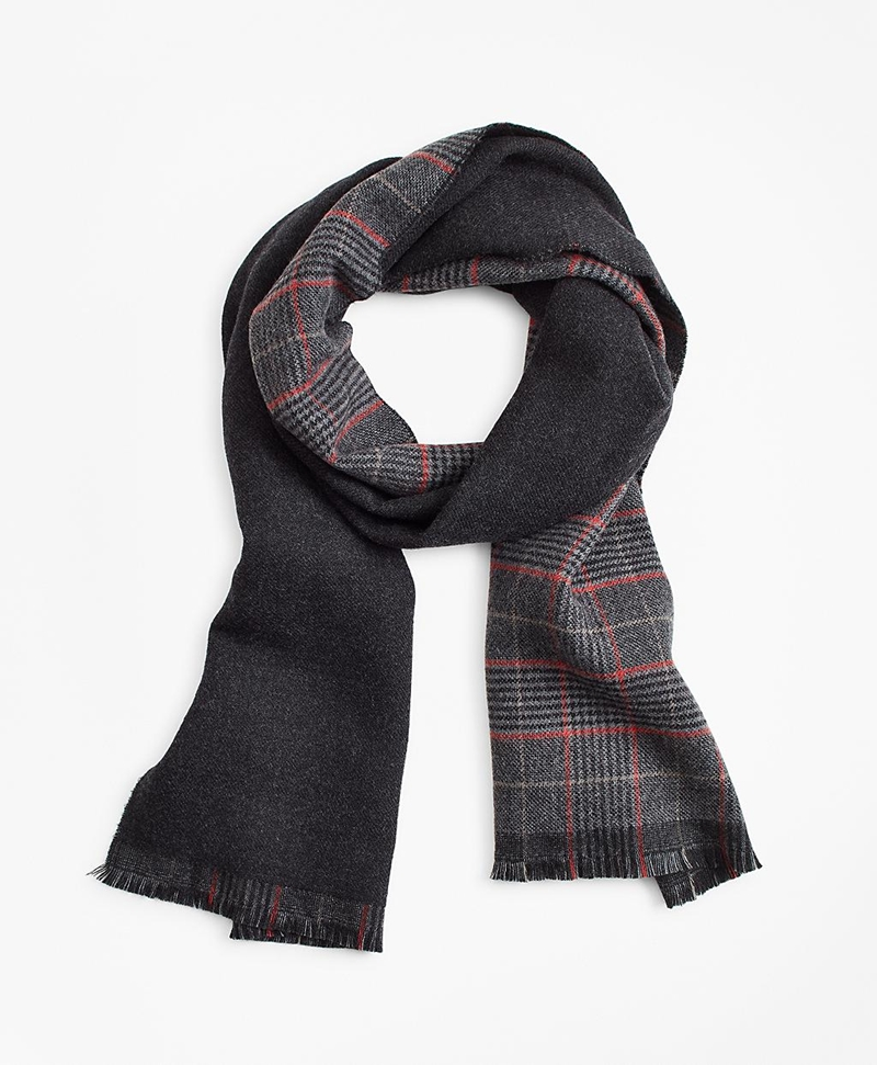 Double-Faced Glen Plaid Scarf 썸네일 이미지 1