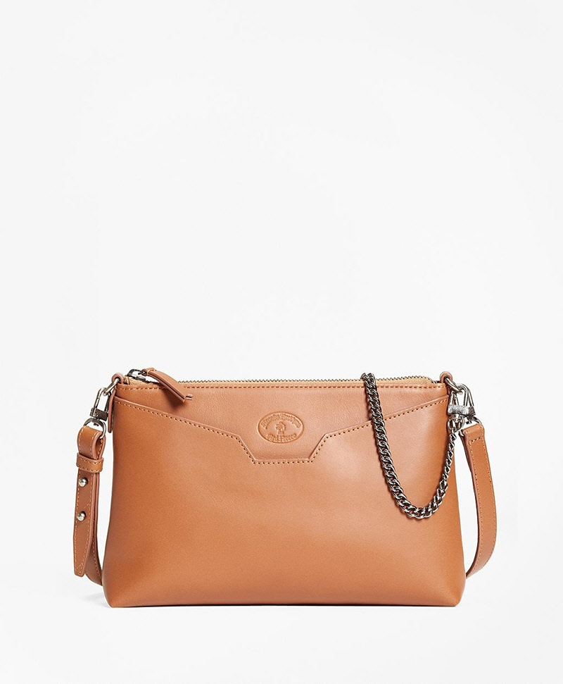 Leather Double-Strap Convertible Cross-Body Bag 썸네일 이미지 1