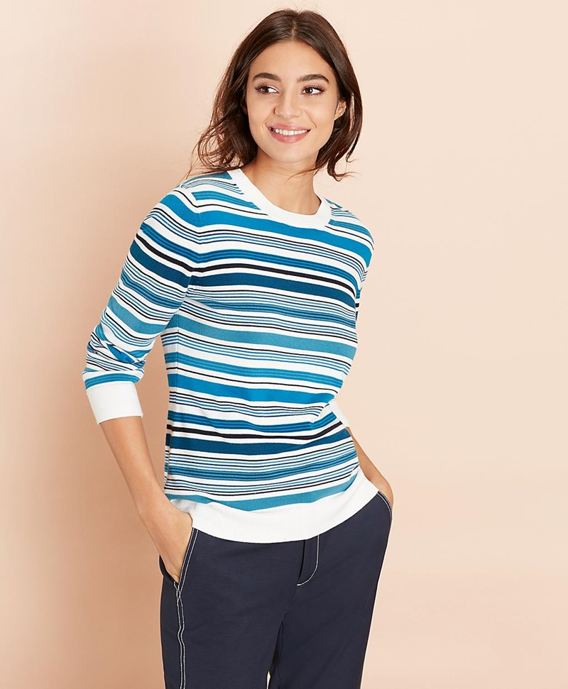 Striped Cotton Sweater 썸네일 이미지 1