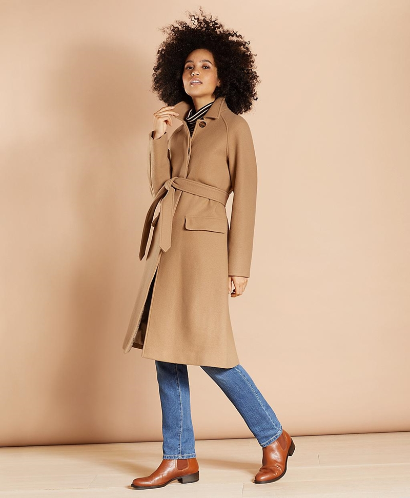 Water-Repellent Stretch-Wool Twill Trench Coat 썸네일 이미지 1