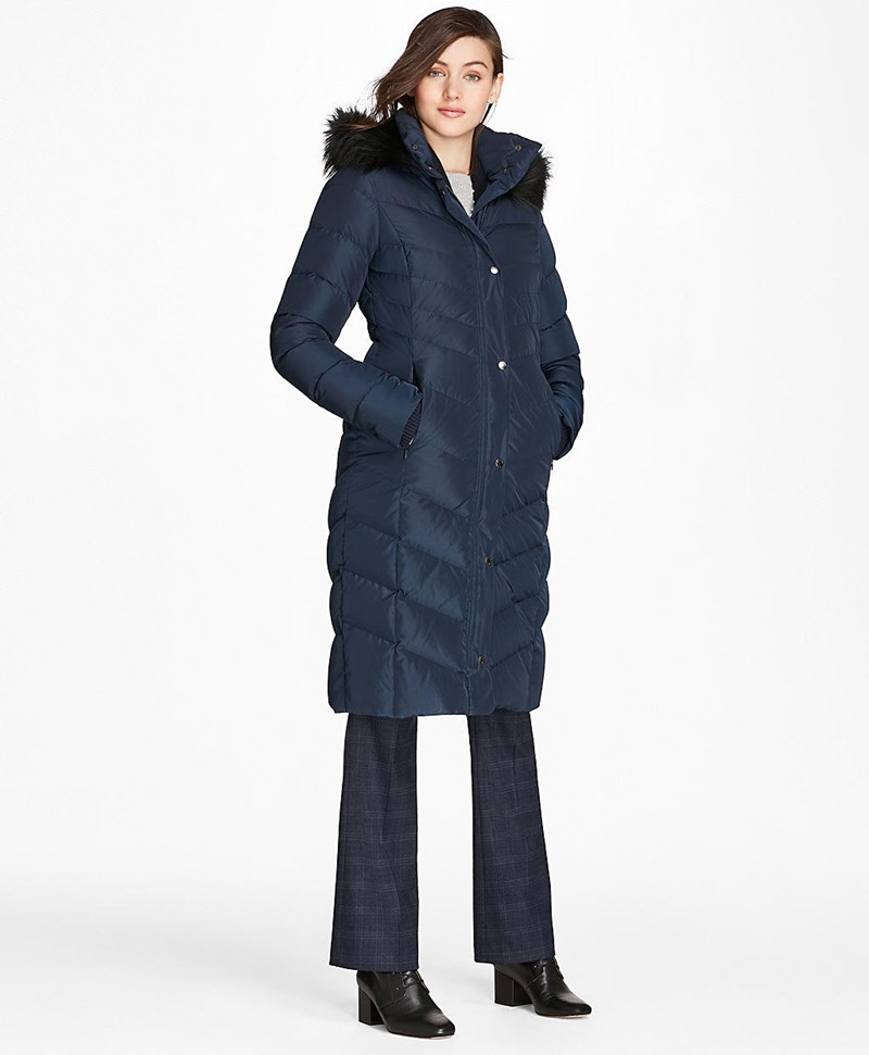 Fur-Trimmed Down Puffer Coat 썸네일 이미지 1