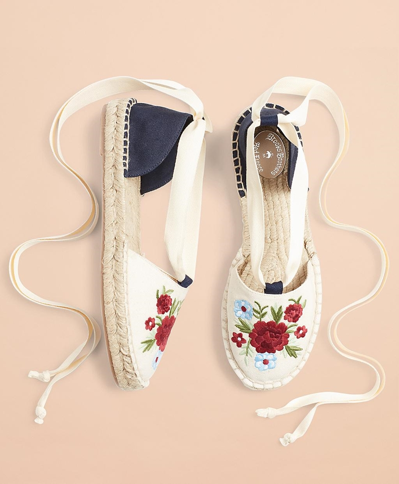 Floral-Embroidered Espadrilles 썸네일 이미지 1