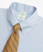 Stretch Milano Slim-Fit Dress Shirt, Non-Iron Check 썸네일 이미지 2