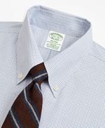 Stretch Milano Slim-Fit Dress Shirt, Non-Iron Grid Check 썸네일 이미지 2