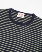 Cotton-Cashmere Striped Crewneck Sweater 썸네일 이미지 2