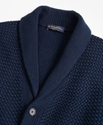 Basket Stitch Shawl Collar Cardigan 썸네일 이미지 2