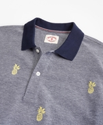 Embroidered Pineapple Cotton Pique Polo Shirt 썸네일 이미지 2